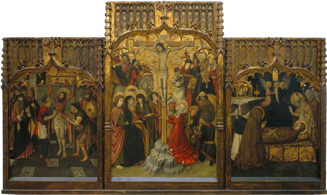 Jaime Yge. Martyrdom of St. Bartholomew. Calvary. The death of St. Mary Magdalene.