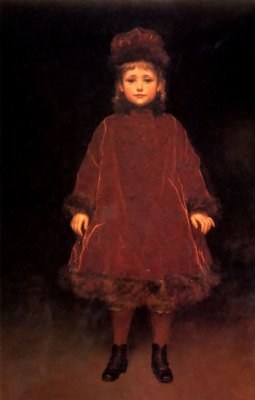 Frederic Leighton. Portrait of a child