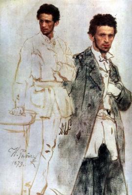 Ilya Efimovich Repin. Nicholas Wentzel. Etude
