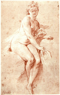 Francois Boucher. Seated Nude