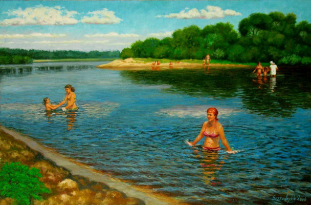 Александр Николаевич Безродных. В жаркий день на реке