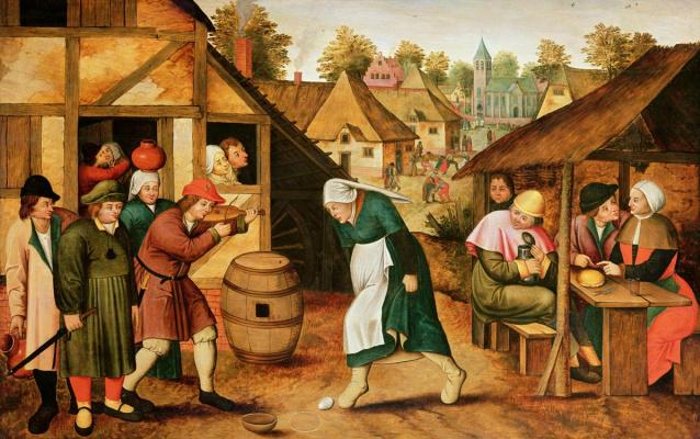 Peter Brueghel The Younger. Dance egg
