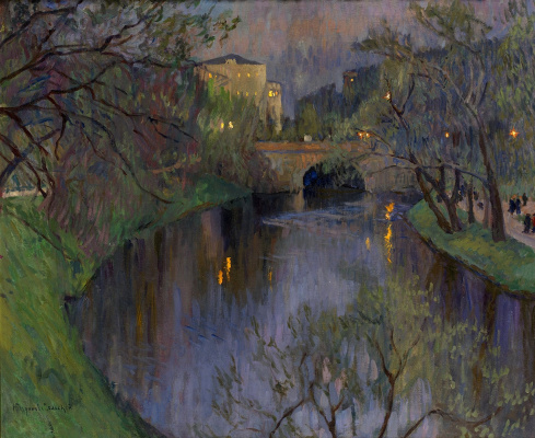 Nikolay Petrovich Bogdanov-Belsky. Evening in Riga