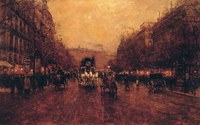 Эдуард Леон Кортес. Парижский вечер