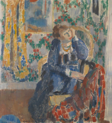 Rick Wouters. Woman with a yellow necklace