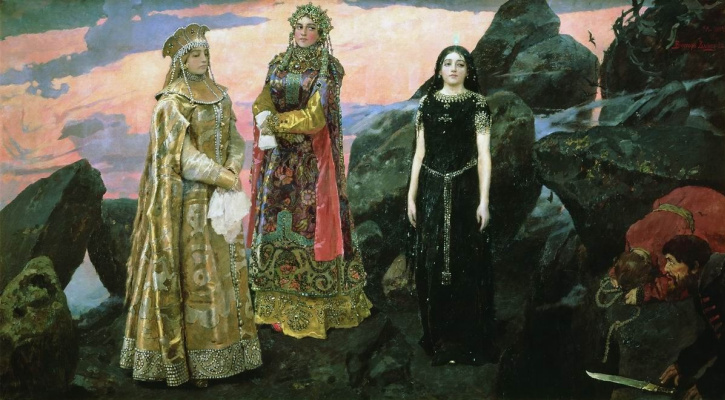 Victor Mikhailovich Vasnetsov. Three Princess of the underworld