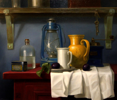 Irina Bogdanova. Still life with jug 30 years