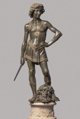 Андреа дель Вероккьо. David and Goliath