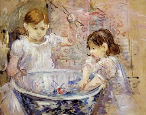 Berthe Morisot. Children at the trough