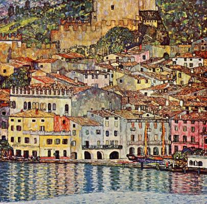 Gustav Klimt. Malcesine on lake Garda