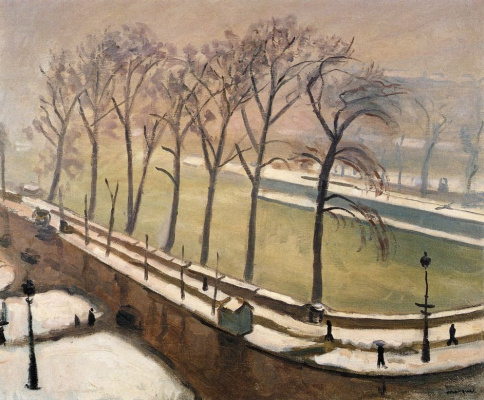 Albert Marquet. The Pont Neuf in the snow