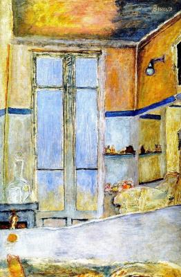 Pierre Bonnard. The interior of the bathroom