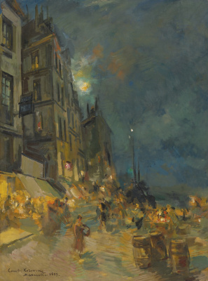 Abram Arkhipov. Night. Marseille Embankment