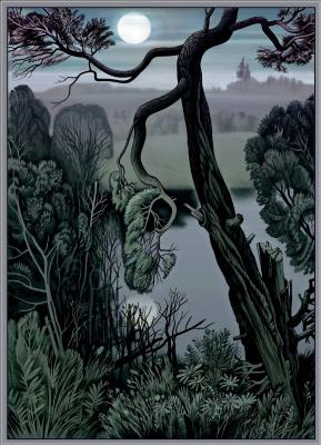 Konstantin Avdeev. Moon over the pond