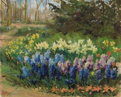 Olga Alexandrovna Romanova. The flowers in the garden