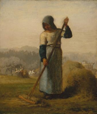 Jean-François Millet. Woman with a rake