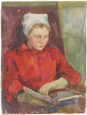 Alexandrovich Rudolf Pavlov. Woman with a book.