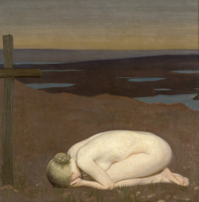 George Clausen. Weeping youth