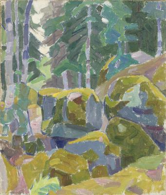 Александр Константинович Богомазов. Landscape with trees