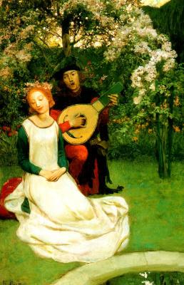 Говард Пайл. Он пел для нее, как они сидели в саду