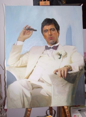 Daria Bragina. A portrait of Tony Montana wedding