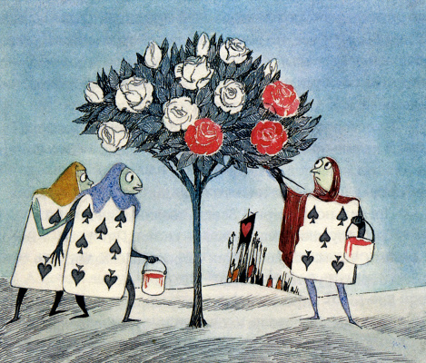 """Tove Jansson. Illustration to the story by L. Carroll """"Alice in Wonderland"""""""