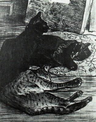 Теофиль-Александр Стейнлен. Три кота