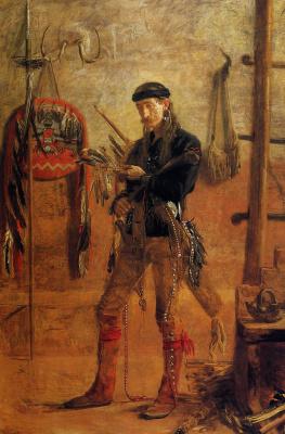Thomas Eakins. The spirit of a warrior. Portrait Of Frank Hamilton Cushing