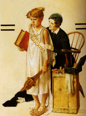 Norman Rockwell. The spirit of education