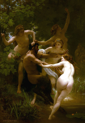 William-Adolphe Bouguereau. Nymphs and Satyr