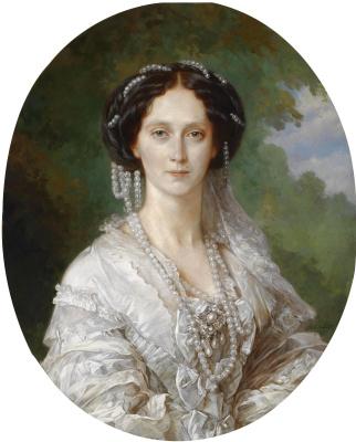 Franz Xaver Winterhalter. Portrait of Empress Maria Alexandrovna (oval)