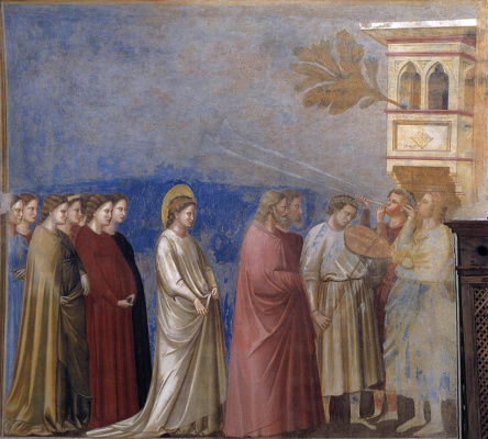 Giotto di Bondone. Wedding procession. Scenes from the Life of the Virgin