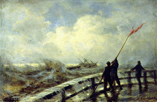 Alexey Petrovich Bogolyubov. Dam in a storm