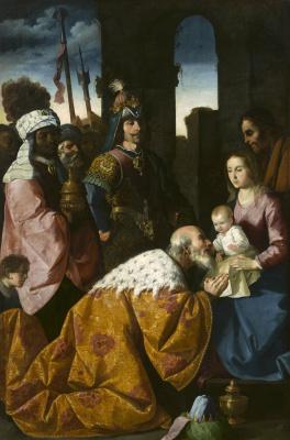 Francisco de Zurbaran. The adoration of the Magi