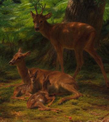 Rose Bonhur. Resting in the shadow of the deer. Fragment