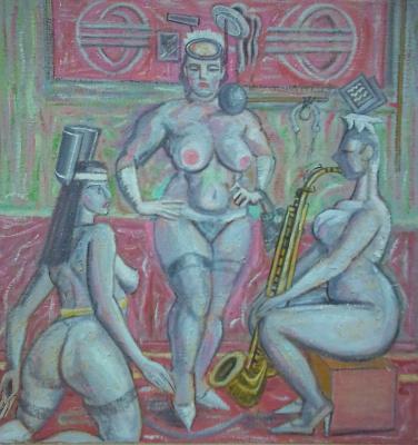Вячеслав Коренев. Three nude figures