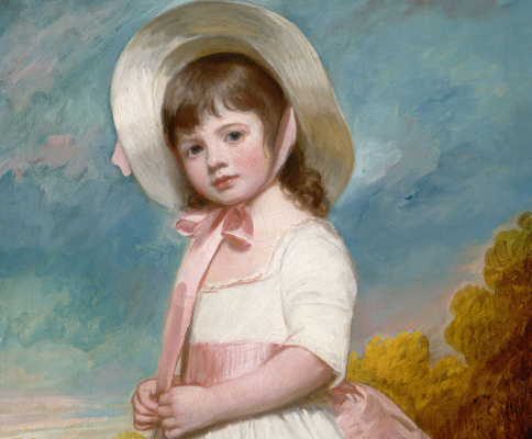 George Romney. Portrait of Miss Julian Willoughby. Fragment