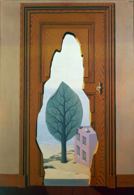 René Magritte. Love the perspective