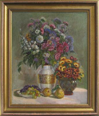 Елена Дмитриевна Чичагова-Россинская. Натюрмот с грушами.  1954