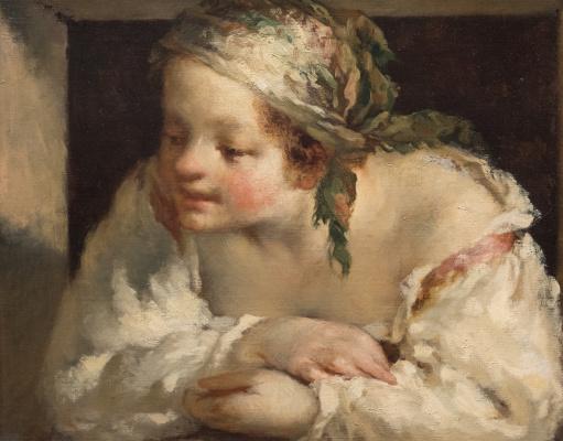 Jean-François Millet. Young woman