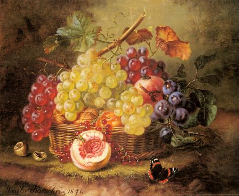 Амалия Каерчер. Натюрморт с виноградом