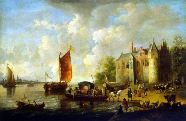 Петер ван де Вельде. Замок на берегу реки