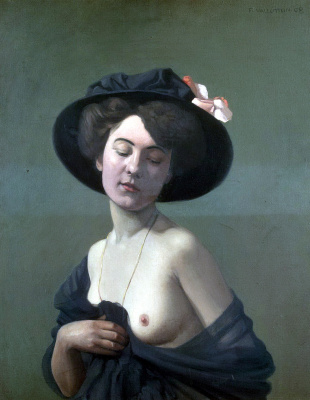Felix Vallotton. Woman in black hat