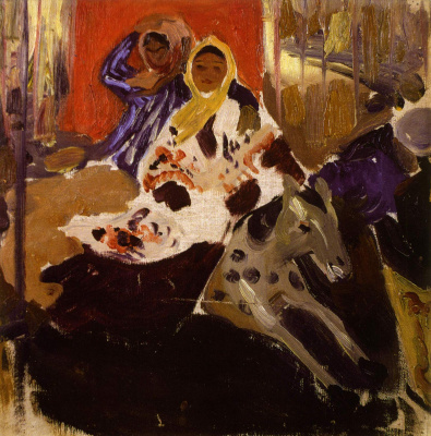 Alexander Alexandrovich Murashko. Carousel. Sketch