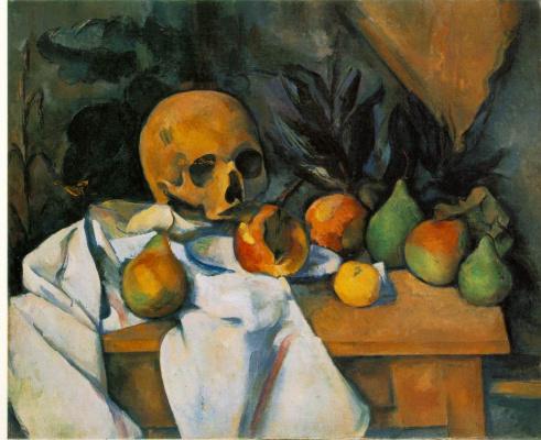 Paul Cezanne. Still life with skull