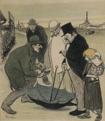 Theophile-Alexander Steinlen. Street magician