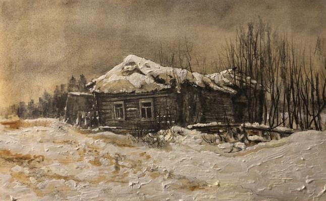 Igor Igorevich Krieger. Hut in the winter