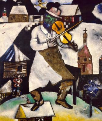 Marc Chagall. Violinist