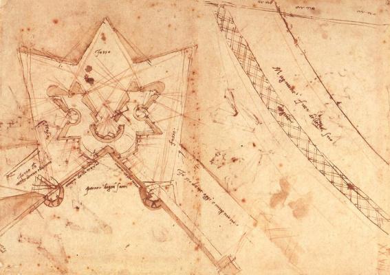 Michelangelo Buonarroti. Plan of the fortification