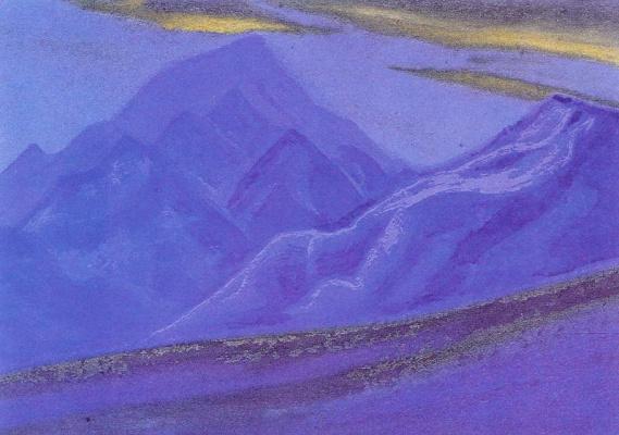 Николай Константинович Рерих. Ладакх (Золотые тучки над синими горами)